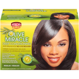African Pride Miracle Deep Conditioning No-Lye Relaxer System
