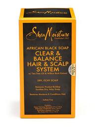 Shea Moisture African Black Soap Hair & Scalp System Kit