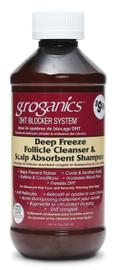 Groganics Deep Freeze Follicle Cleanser Scalp Absorbent Shampoo 8oz