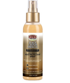 African Pride Black Castor Miracle Heat Protection Spray 4oz