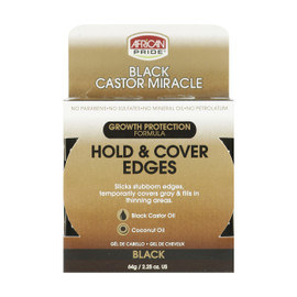 African Pride Black Castor Miracle Edge Gel 2.25oz