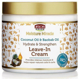 African Pride Moisture Miracle Coconut & Baobab Oil Leave in Cream 15oz