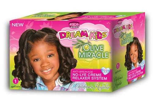 African Pride Dream Kids Olive Miracle Relaxer Kit Regular