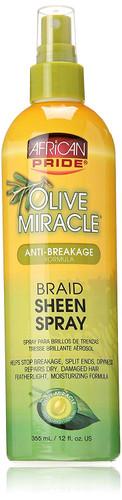 African Pride Olive Miracle Braid Sheen Spray 12oz