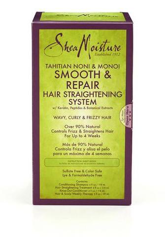Shea Moisture Tahitian Noni & Monoi Hair Straightening System Kit