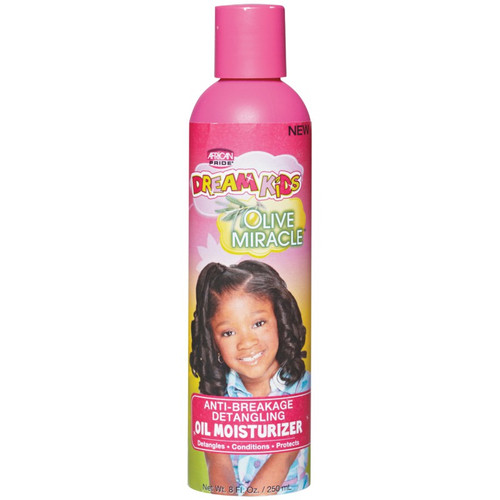 African Pride Dream Kids Olive Miracle Anti Breakage Oil Moisturizer 8oz