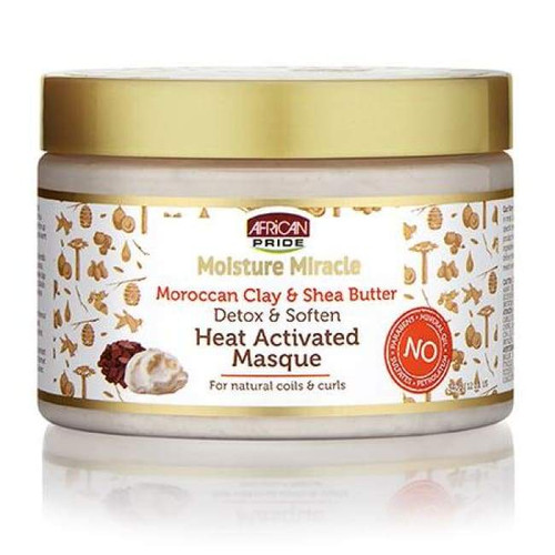 African Pride Moist Miracle Moroccan Clay & Shea Butter Masque 12oz