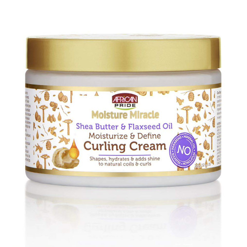 African Pride Moisture Miracle Shea Butter & Flaxseed Oil Curling Cream 12oz