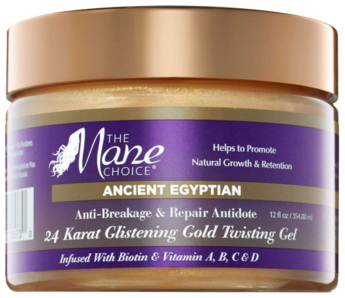 The Mane Choice Ancient Egyptian 24 Karat Gold Twisting Gel 254ml