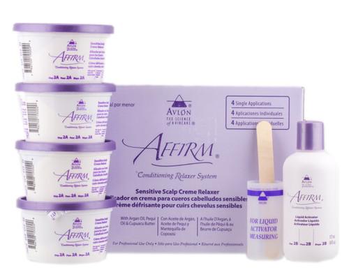 Avlon Affirm Sensitive Relaxer Kit  4 Application
