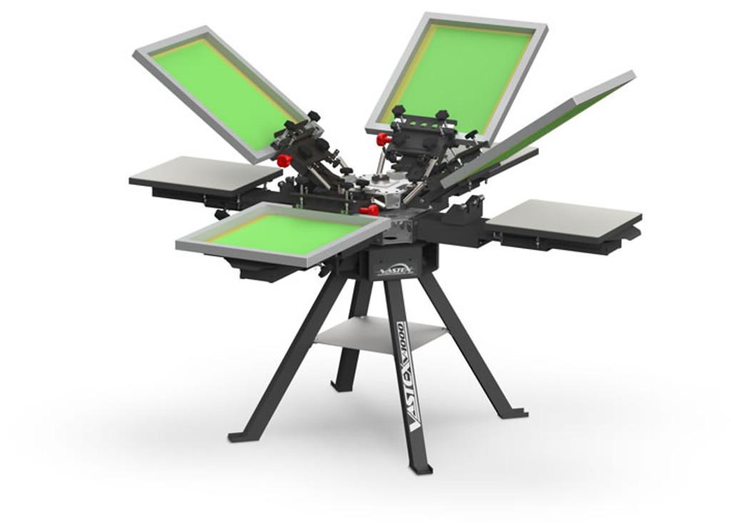 V1000 Vastex Manual Screen Printing Press 4 Station 4 Colour