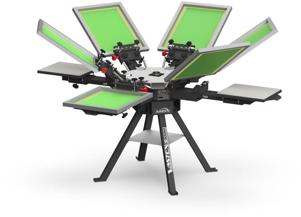 V1000 Vastex Manual Screen Printing Press 4 Station 6 Colour