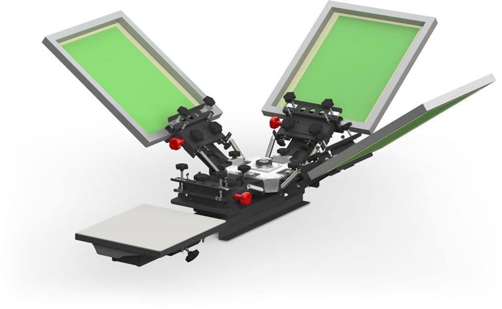V1000 Vastex Manual Screen Printing Press 1 Station 4 Colour