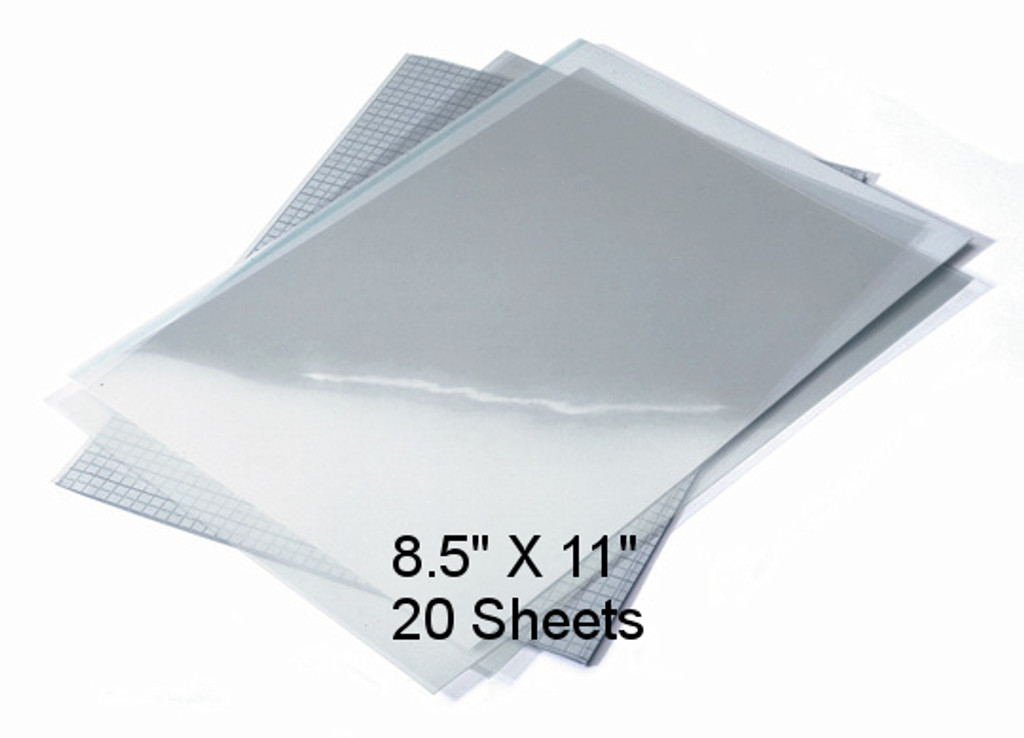 "Waterproof Screen Positive Inkjet Film 8.5""X11"" 20 Sheets"