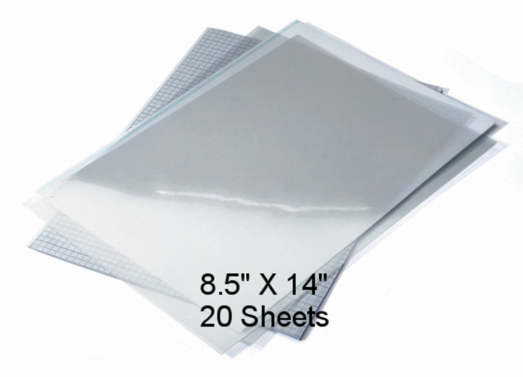 "Waterproof Screen Positive Inkjet Film 8.5""X14"" 20 Sheets"