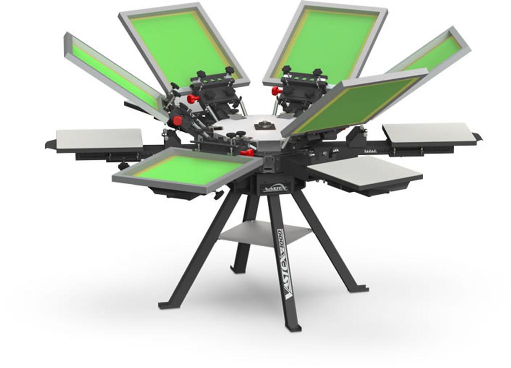 V1000 Vastex Manual Screen Printing Press 6 Station 6 Colour