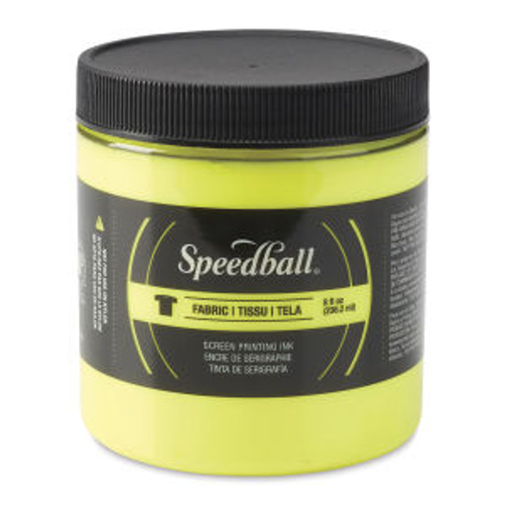 Speedball Fabric Screen Printing Ink Fluorscent Yellow 32 oz