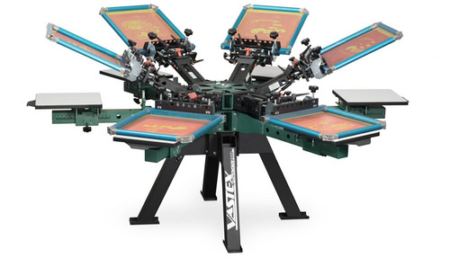 V2000HD Vastex Premium Manual Screen Printing Press 6 Station 6 Colour