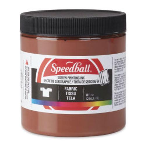 Speedball Fabric Screen Printing Ink Brown 8 oz