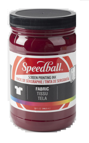 Speedball Fabric Screen Printing Ink Burgundy 32 oz