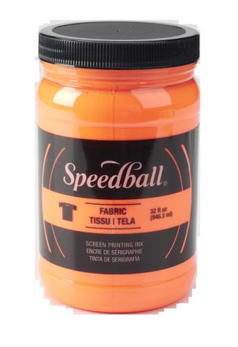 Speedball Fabric Screen Printing Ink Fluorscent Orange 32 oz
