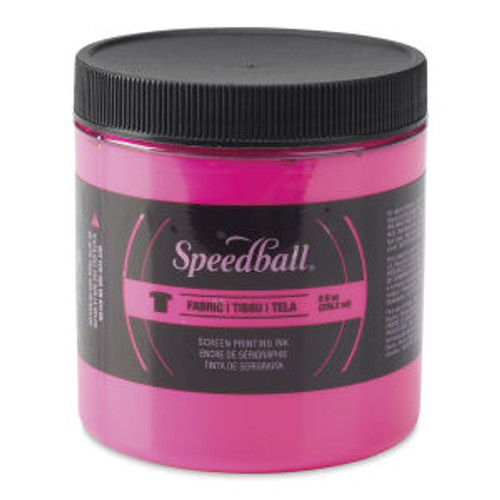 Speedball Fabric Screen Printing Ink Fluorscent Magenta 8 oz