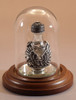 """Pewter Angel with Clear Glass - pictured with Optional Short Mini Dome and Optional 1 1/2"""" Beveled Mirror - Each Sold Separately"""