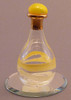 "Pale Yellow Tear Bottle - pictured with Optional 2"" Beveled Mirror - Sold Separately"