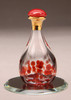 "Red Contemporary Tear Bottle - pictured with Optional 2"" Beveled Mirror - Sold Separately"