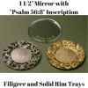 Tear Bottle Mirrors and Trays Tear Bottle Filigree Trays Tear Bottle Filigree and Solid Trays