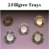 Tear Bottle Filigree Trays