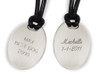Oval Pendants with Engraving on the back
