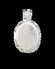 Midi Charm with Rimmed Fingerprint in White Gold