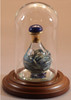 "Blue Marble Contemporary Tear Bottle - pictured with Short Mini Dome with Optional 1 1/2"" beveled Mirror - Each Sold Separately"