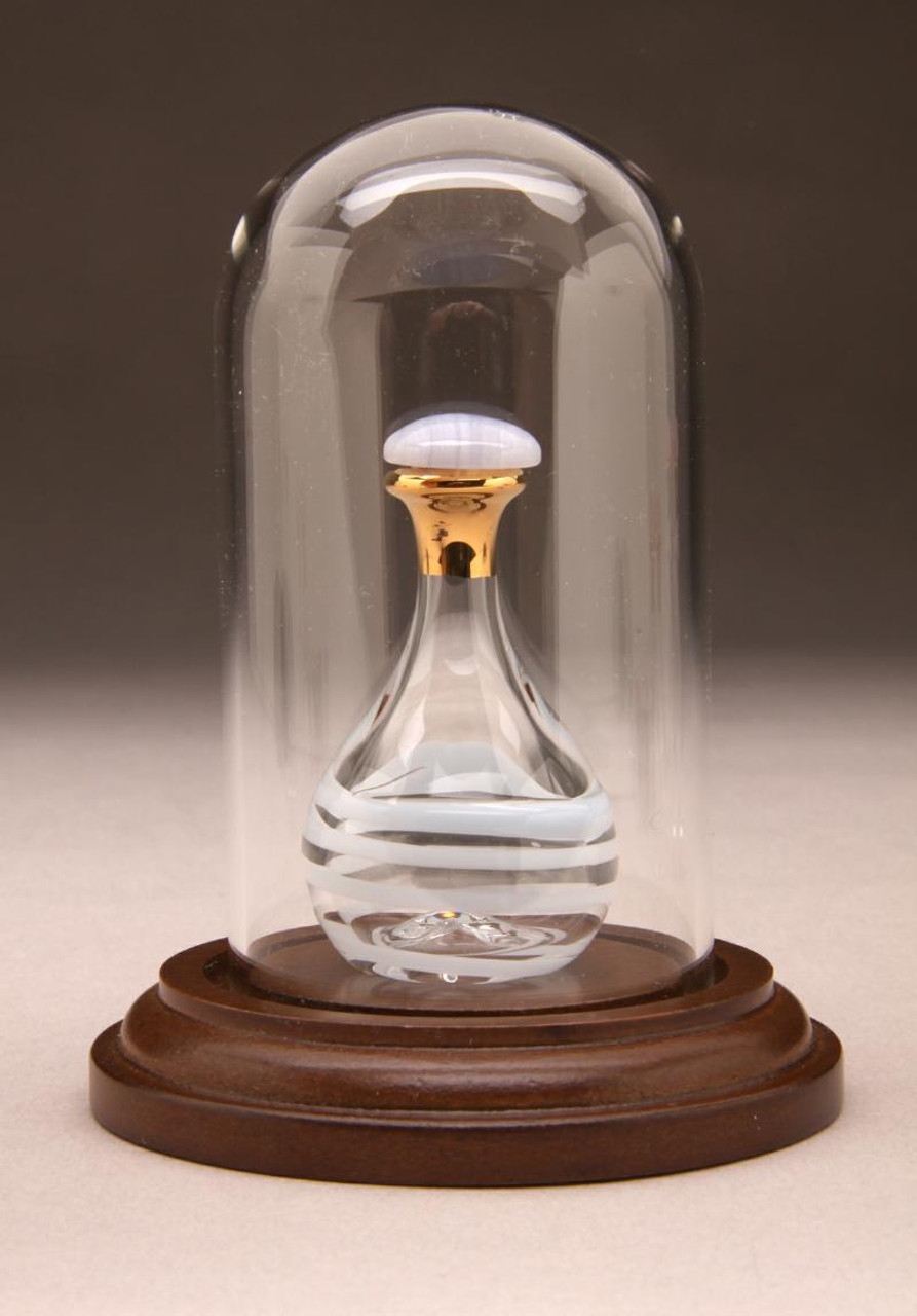 "Glass Mini Dome 1 7/8"" D x 3 1/2"" H - Large - Shown with Optional Baby Blue Tear Bottle - Sold Separately"