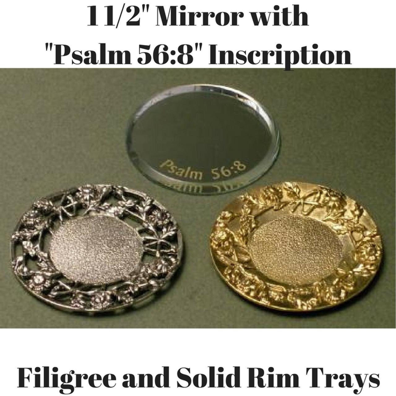 Tear Bottle Mirrors and Trays Tear Bottle Filigree Trays Tear Bottle Filigree and Solid Trays Domes