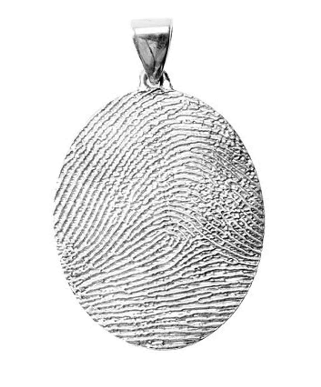 Grand Charm in Sterling Silver with Rimmed Finger Print