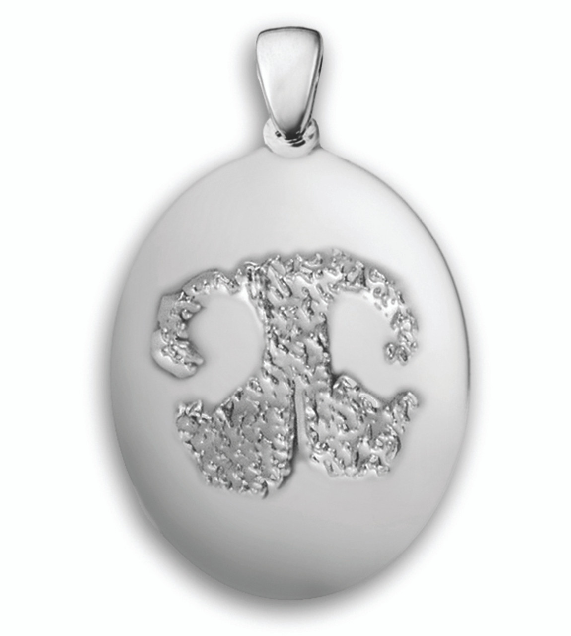 Standard Charm in Sterling Silver with Nose Print