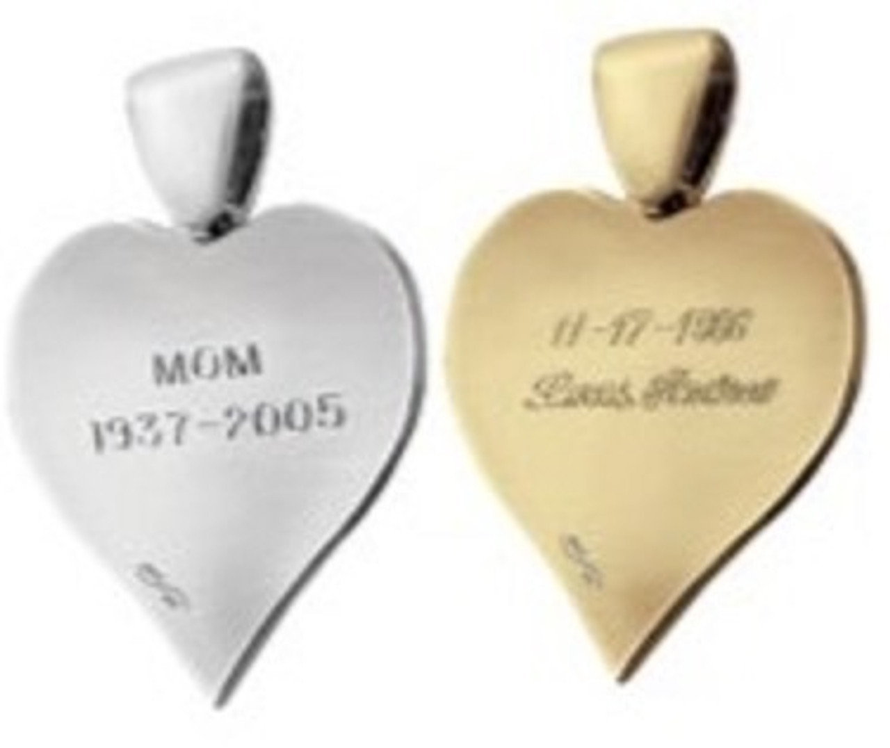 Single HeartFelt Charm with Back Engravings