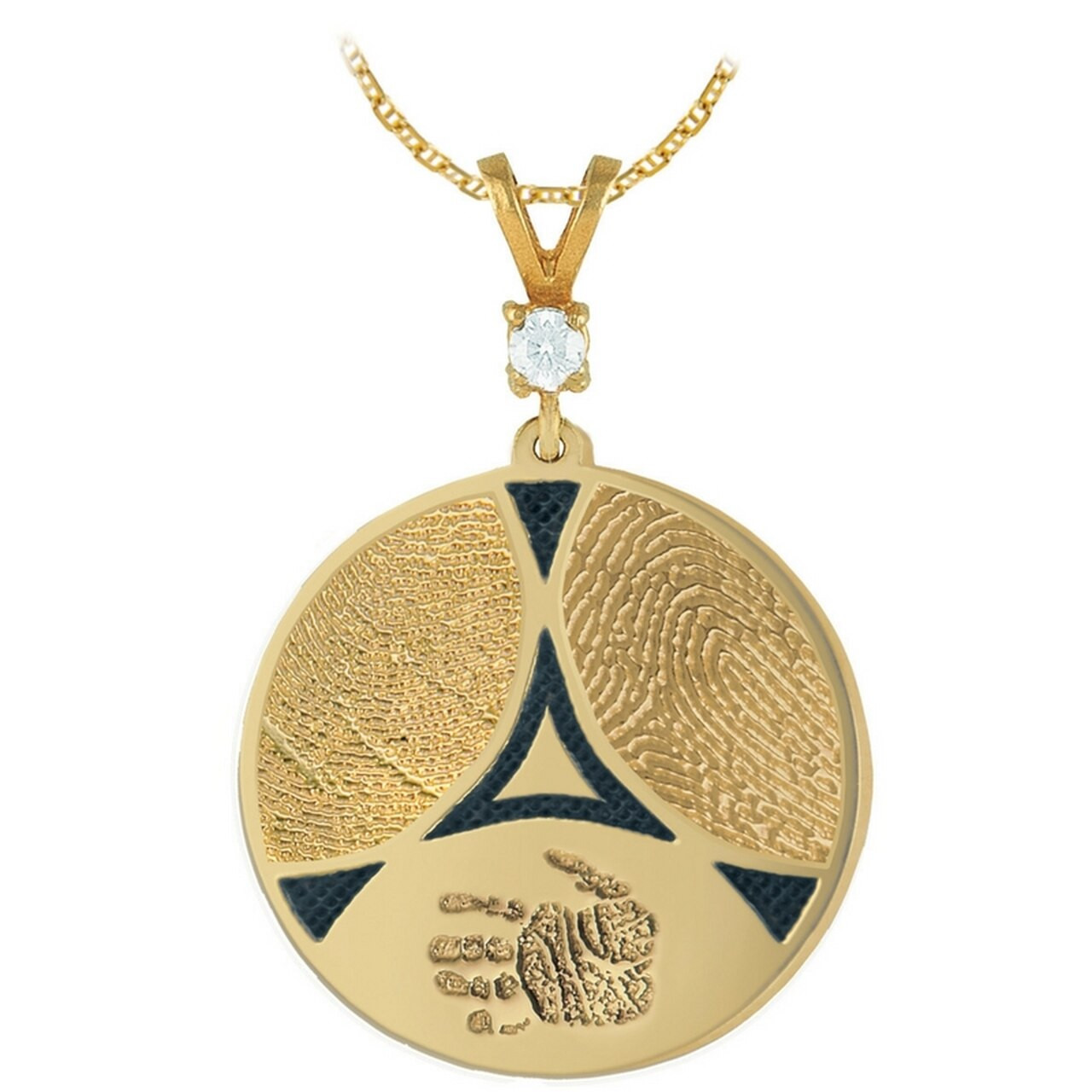 1 Stone Bail on a Family Ties Charm in Yellow Gold