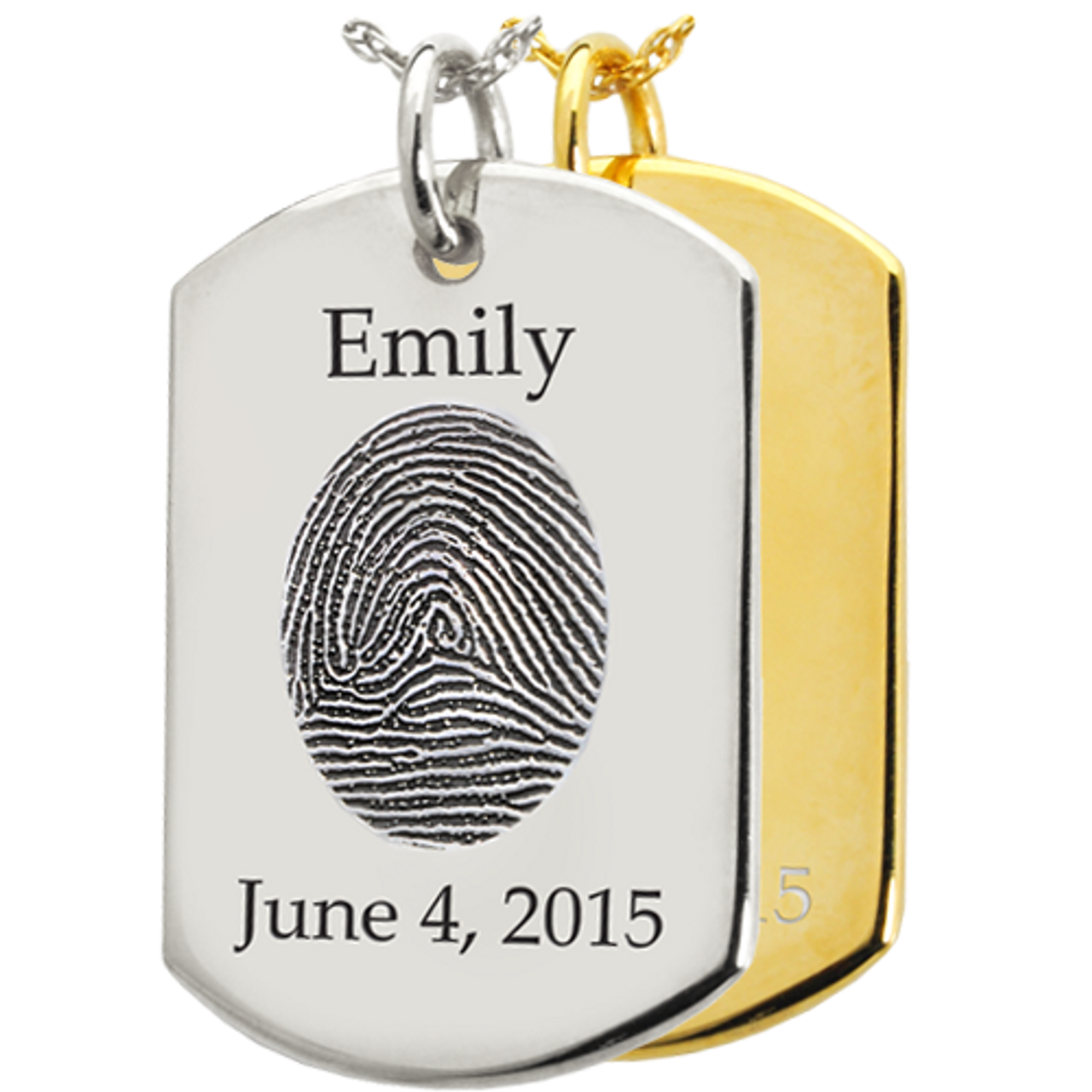 Dog Tag Print/Photo Pendant