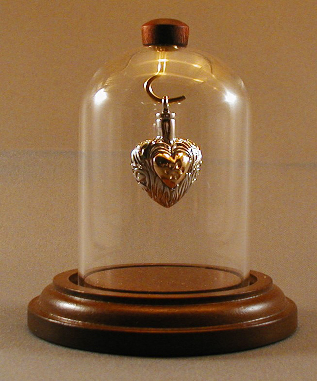 Mini-Dome Small with Walnut Base and Brass Hook