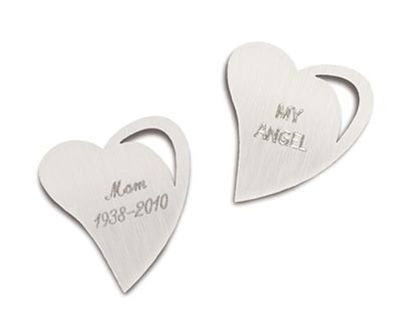 Engraving for Open Heart Noble Bronze Pendants (BACK)
