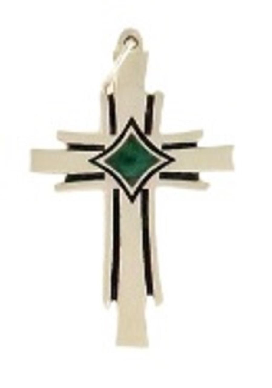 Large Phoenix Cross with Green