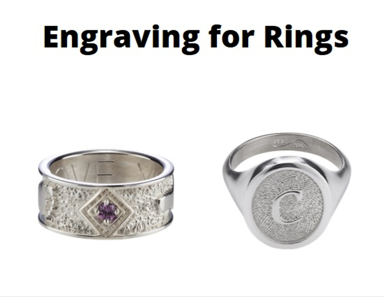 Remembrance Band and Signet Rings