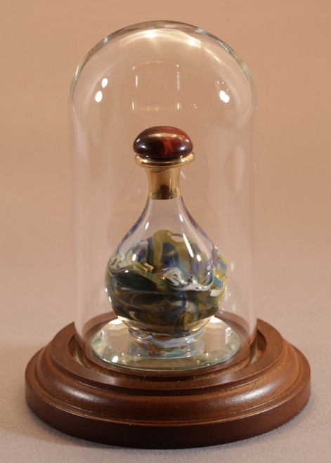 "Glass Mini Dome 1 7/8"" D x 3 1/2"" H - Large - Shown with Optional Olive Marble Tear Bottle - Sold Separately"