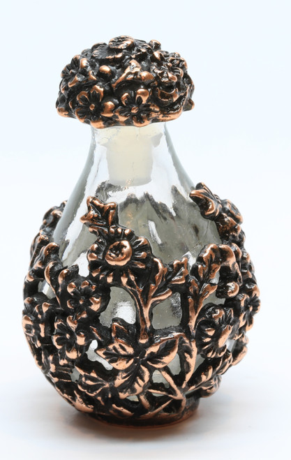 Copper with Clear Glass Victorian Tear Bottle