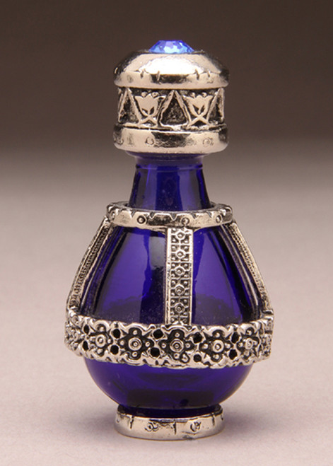 Silver Banded Roma Tear Bottle