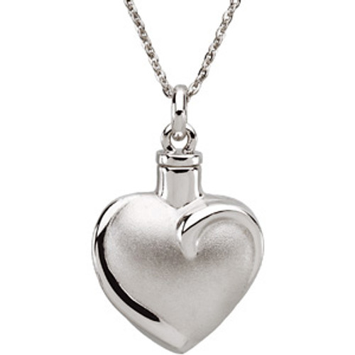Fancy Heart™ Ash Pendant 26.46mm x 19.56mm 10.00 grams 6.43 DWT