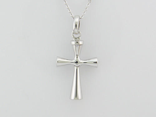 Plain Cross Ash Pendant 30.13mm x 17.62mm 9.61 grams 6.18 DWT